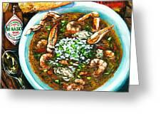 Seafood Gumbo Greeting Card