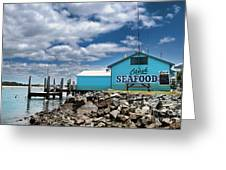 Seafood On The River  Greeting Card