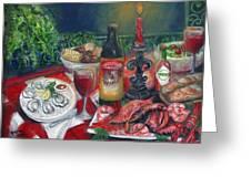 Seafood Soiree Greeting Card