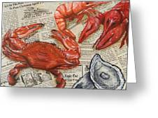 Seafood Special Edition Greeting Card by JoAnn Wheeler