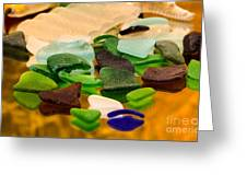 Seaglass Reflections Greeting Card