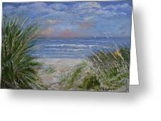 Seagrasses At Sunrise Greeting Card