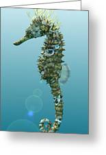 Seahorse 3d Render Greeting Card