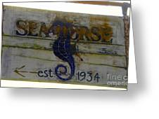 Seahorse Est. 1934 Greeting Card