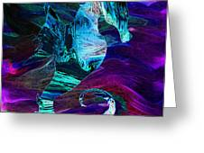 Seahorse In A Lightning Storm Greeting Card