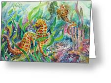 Seahorses Three Greeting Card
