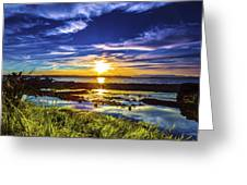 Seahurst Sunset Greeting Card
