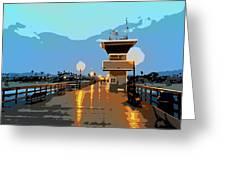 Seal Beach Evening  Greeting Card