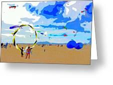 Seal Beach Kite Fly Greeting Card