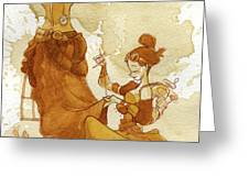 Seamstress Greeting Card by Brian Kesinger