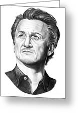Sean Penn Greeting Card