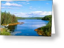 Seaplane On Talkeetna Lake, Alaska Greeting Card