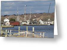 Seaport Before The Storm Greeting Card