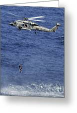 Search And Rescue Swimmers Greeting Card