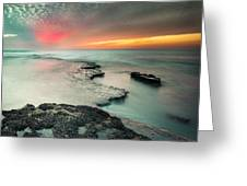 Searchlight Sunset Greeting Card