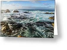 Seas Of The Wild West Coast Of Tasmania Greeting Card