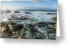 Seas Of The Wild West Coast Of Tasmania Greeting Card