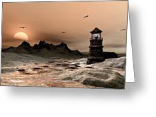 Seascape  A Frozen Morning Greeting Card