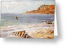 Seascape At Sainte Adresse  Greeting Card