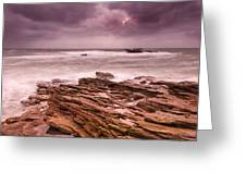 Seascape At The Coastline Of West France Greeting Card