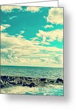 Seascape Cloudscape Instagramlike Greeting Card