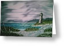 Seascape Lighthouse Greeting Card
