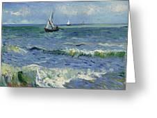 Seascape Near Les Saintes Maries De La Mer Arles June 1888 Vincent Van Gogh 1853  1890 Greeting Card
