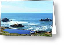 Seascape San Francisco Sutro Bath Pacific Ocean Shore Greeting Card