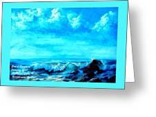Seascape Scene Near Northbrooke-on-sea L A Greeting Card