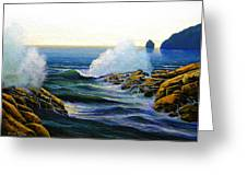 Seascape Study 3 Greeting Card