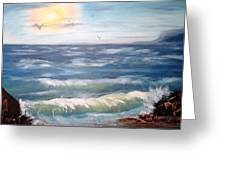 Seascape Study Greeting Card