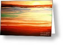 Seascape Sunset Greeting Card
