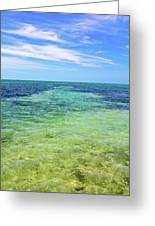 Seascape - The Colors Of Key West Greeting Card