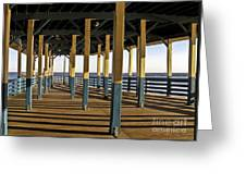 Seascape Walk On The Pier Greeting Card