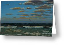 Seascape With Tearns Greeting Card