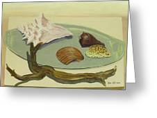 Seashells Greeting Card by M Valeriano