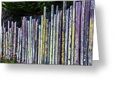 Seashore Fence Greeting Card
