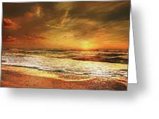 Seashore Sunset Greeting Card