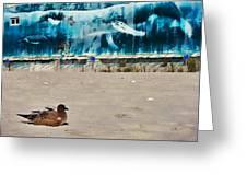 Seaside Art Gallery Greeting Card