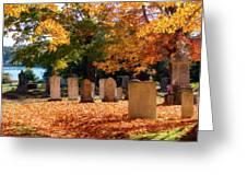 Seaside Cemetery Greeting Card
