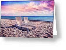 Seaside Chairs Greeting Card