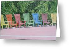 Seaside Chairs Greeting Card