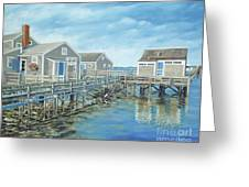 Seaside Cottages Greeting Card