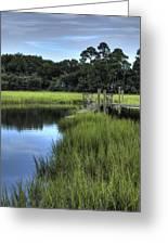 Seaside Creek Fort Lamar Battle Of Secessionville Greeting Card