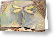 Seaside Dragonfly Greeting Card