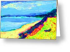 Seaside Green Greeting Card