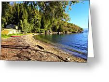 Seaside House On Corfu Greeting Card