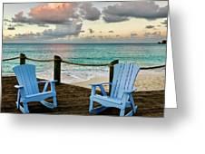 Seaside In Antigua Greeting Card
