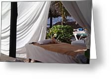 Seaside Massage Greeting Card