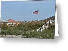 Seaside Patriotism Greeting Card